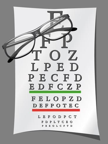 eye charts and glasses