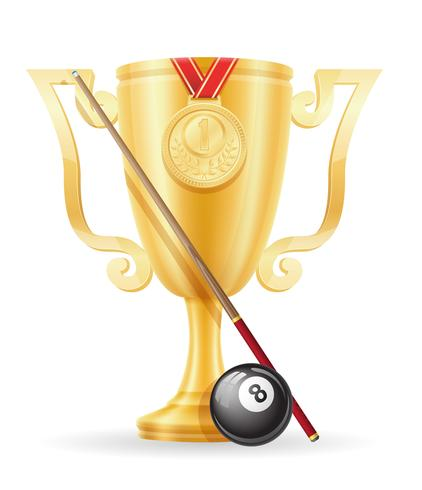 illustrazione di biliardo d'oro del vincitore di Coppa biliardo da biliardo