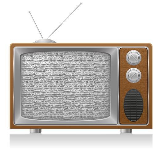 vieja ilustración de vector de tv