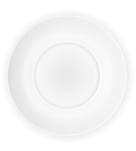 porcelain plate top view vector illustration