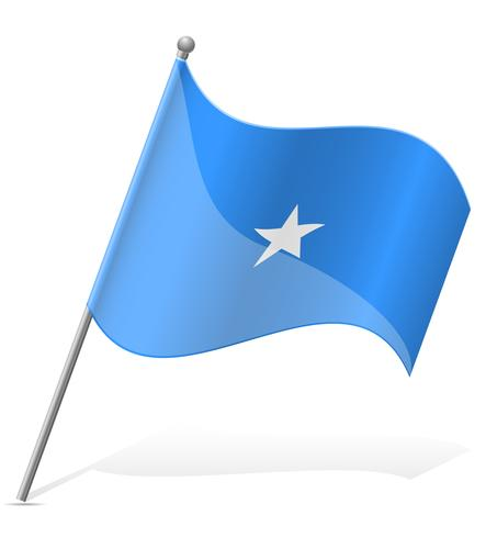 flag of Somali vector illustration