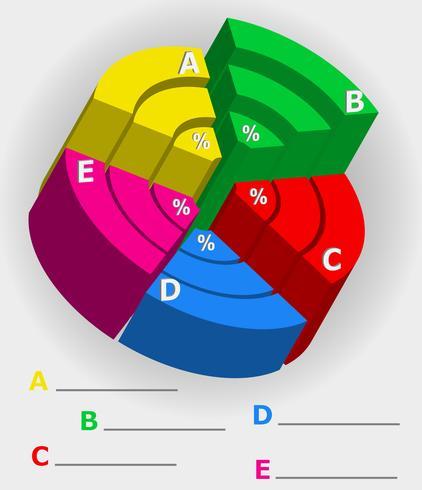 infographics multicolor visivamente circonda 3d