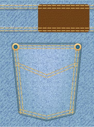 texture jeans avec poche