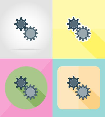 service flat icons vector illustration