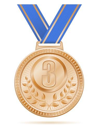 médaillé sport bronze illustration de vecteur stock