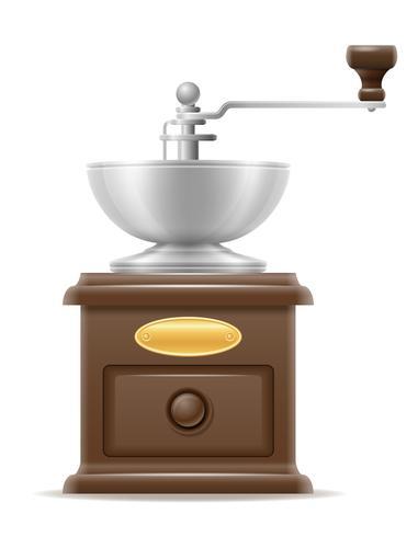 vecchio mulino del caffè retrò vintage icona illustrazione vettoriali stock