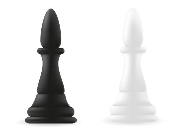 pièce d'échecs évêque noir et blanc