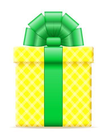 geschenkdoos met een boog vectorillustratie