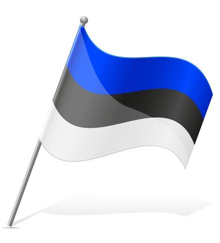 Bandera de ilustración vectorial de estonia