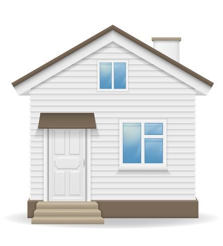 Ilustración de vector de casa de campo pequeño