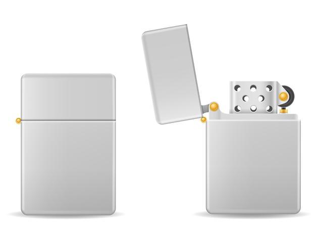 metal gasoline lighter vector illustration