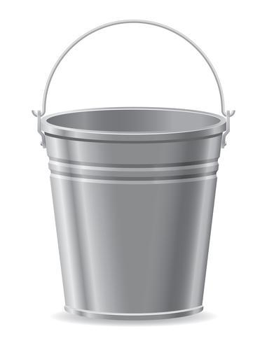 illustration vectorielle de seau en métal