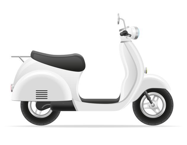 illustration vectorielle de scooter rétro