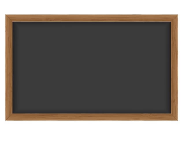 Hölzerne Schulbehörde zum Schreiben von Kreide-Vektor-Illustration