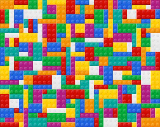 fond d'éléments l'illustration vectorielle de constructeur en plastique vue de dessus