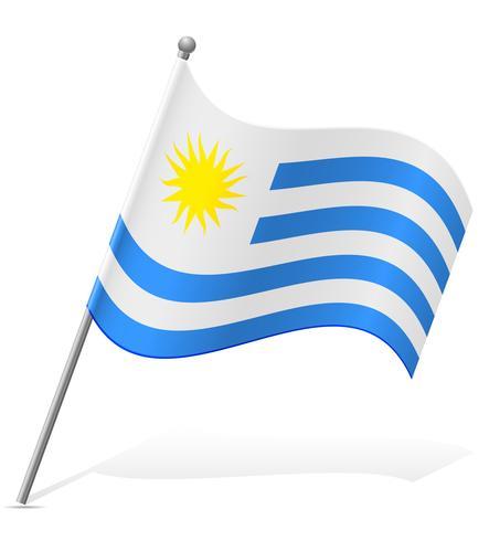 Bandera de Uruguay ilustración vectorial