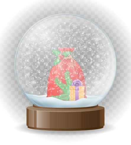 snow globe transparent vector illustration