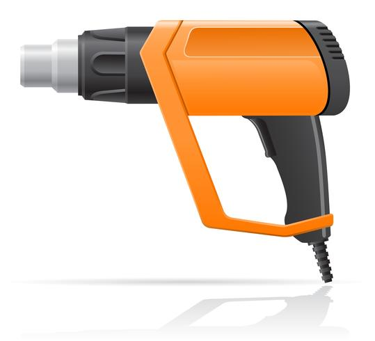 electric building hot air dryer gun vector illustration