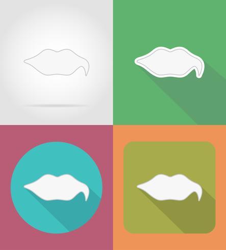 bulles icônes plates illustration vectorielle