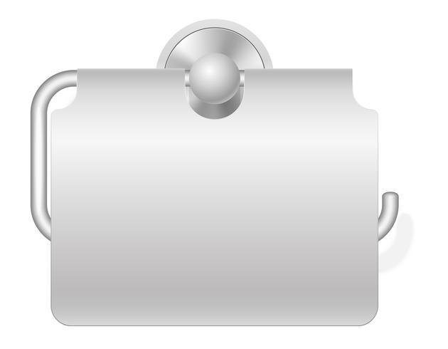 Ilustración de vector de titular de papel higiénico