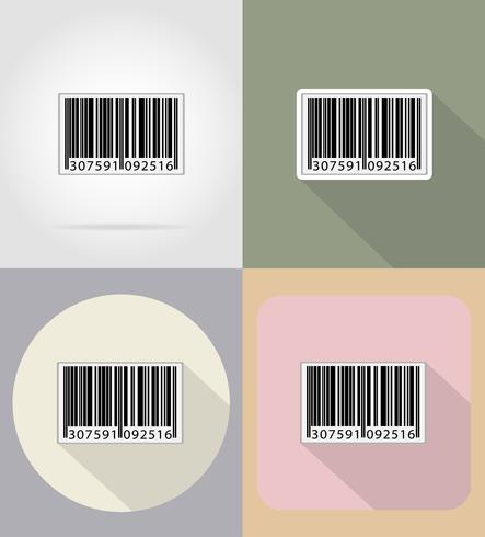 barcode flat icons vector illustration