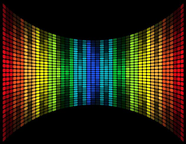 abstract multicolored graphic equalizer vector illustration