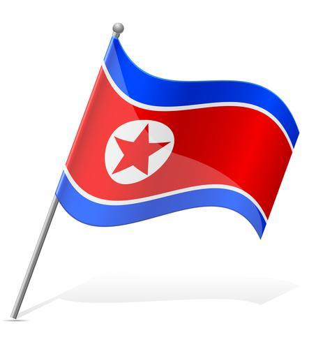 Bandera de Corea del Norte ilustración vectorial