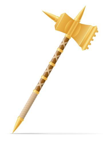batalla martillo medieval stock vector ilustración