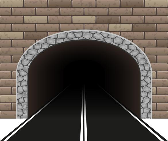 illustration vectorielle de tunnel automobile