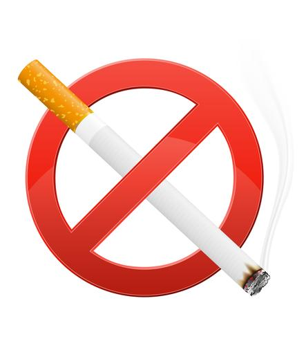 sign prohibiting smoking vector illustration