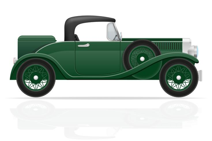 ancienne illustration vectorielle de voiture rétro