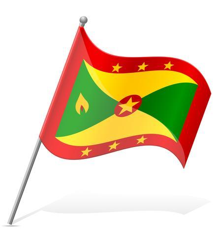 drapeau de la Grenade vector illustration