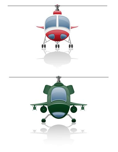 Set Icons Hubschrauber-Vektor-Illustration vektor