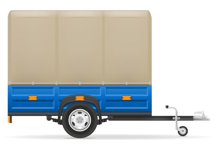 remorque de voiture pour le transport de marchandises vector illustration