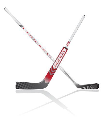 bâtons de hockey vector illustration