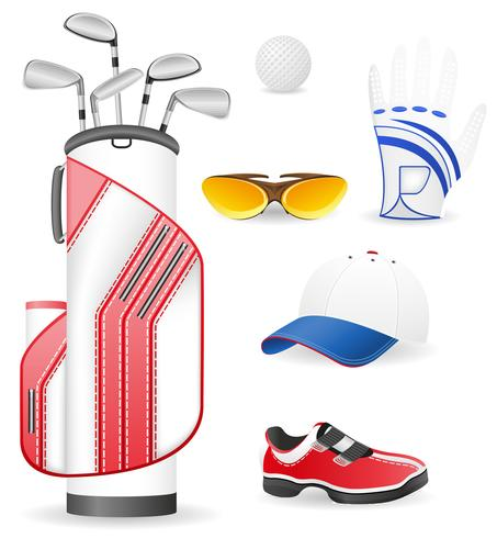 attrezzature e abbigliamento per l'illustrazione vettoriale golf