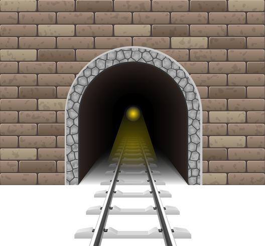 illustrazione di vettore del tunnel ferroviario