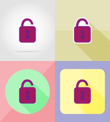Cerradura para el diseño de iconos planos vector illustration
