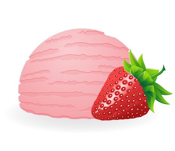 Ilustración de vector de bola de helado