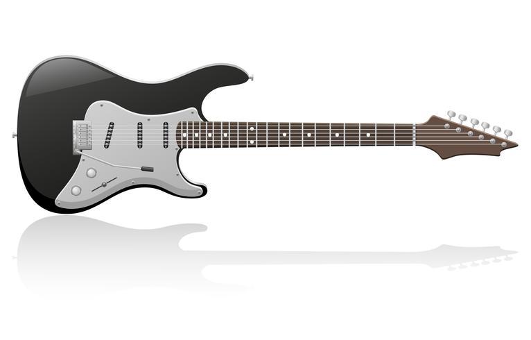 ilustración vectorial de guitarra eléctrica