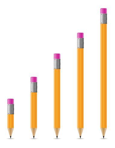 gescherpte potloden vectorillustratie