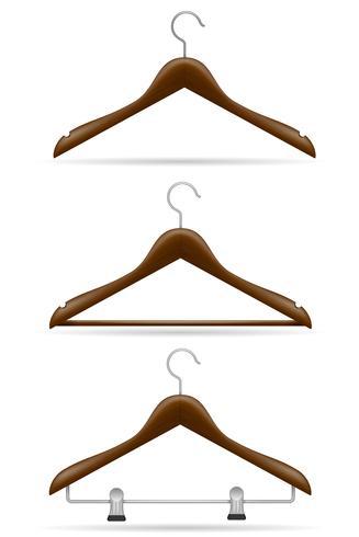 houten kleerhanger vectorillustratie