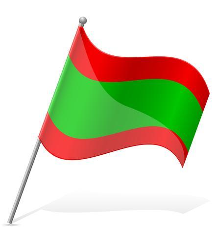 drapeau de l'illustration vectorielle de Transnistrie vecteur