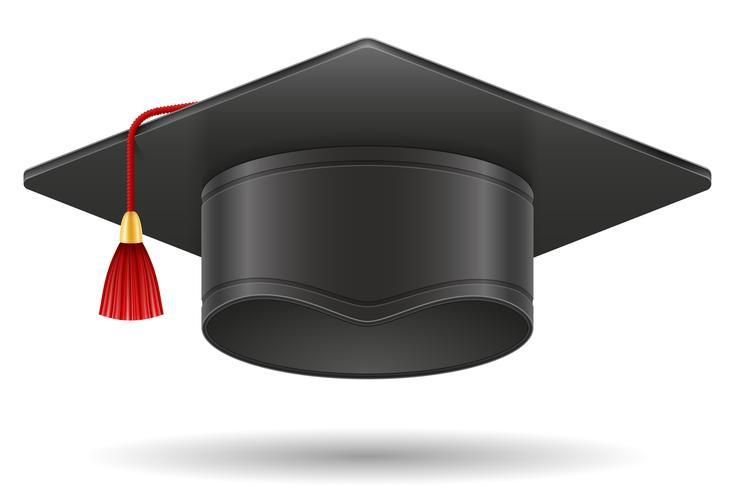 illustration vectorielle de graduation académique mortier carré casquette