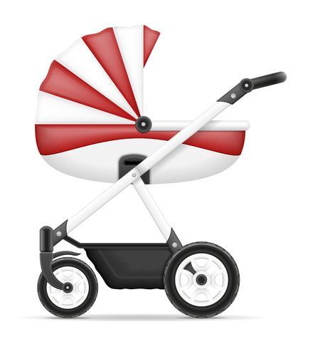Ilustración de vector stock carro de bebé