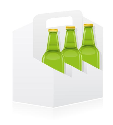 packing box for bottle vector illustration