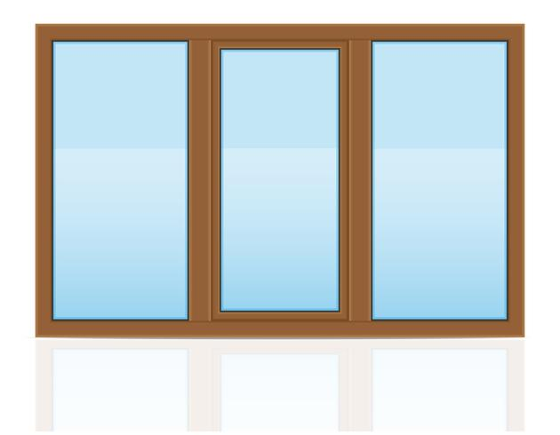 brown plastic transparent window view outdoors vector illustration