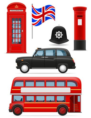 Londres set iconos vector illustration