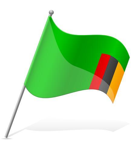 Bandera de Zambia ilustración vectorial vector