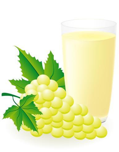 illustrazione vettoriale di succo d'uva bianca